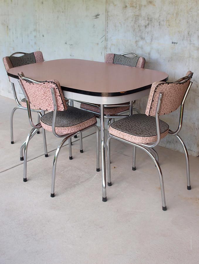 1950s retro pink laminex kitchen set extremely well. Black Bedroom Furniture Sets. Home Design Ideas