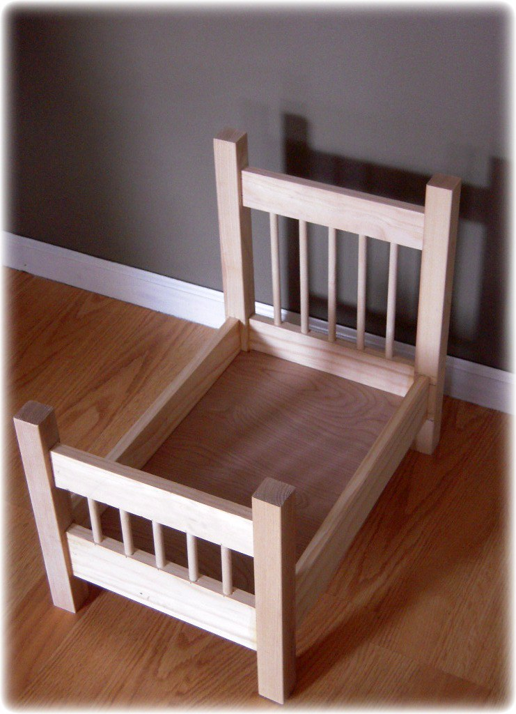Unfinished Baby Photo Prop Doll Bed Fancy Headboard Flickr
