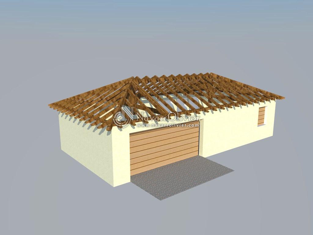 Cubierta de casa a 4 aguas estructura para cubierta de for Tejados de madera a cuatro aguas