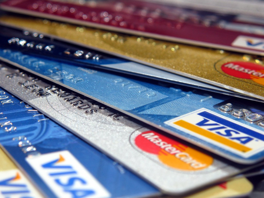 Rainbow of credit cards