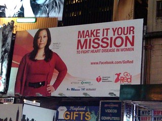 Go Red Billboard in Times Square, NYC | by Latina On a Mission