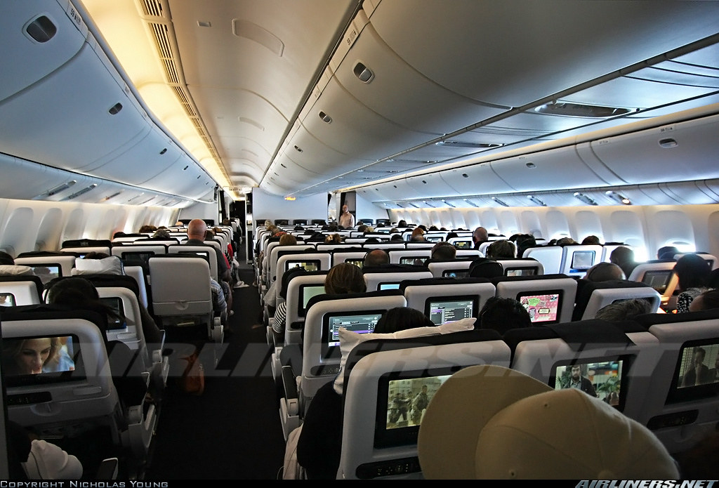 Air New Zealand Boeing 777 300er Economy Cabin The