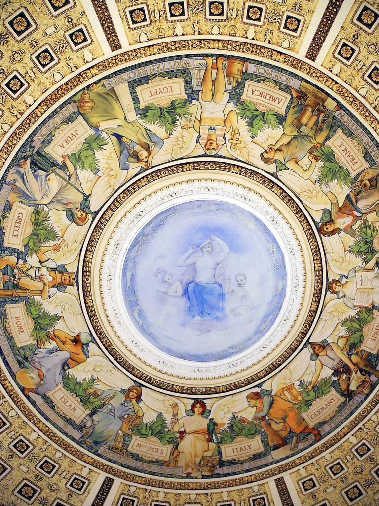 Library Of Congress Main Reading Room Dome