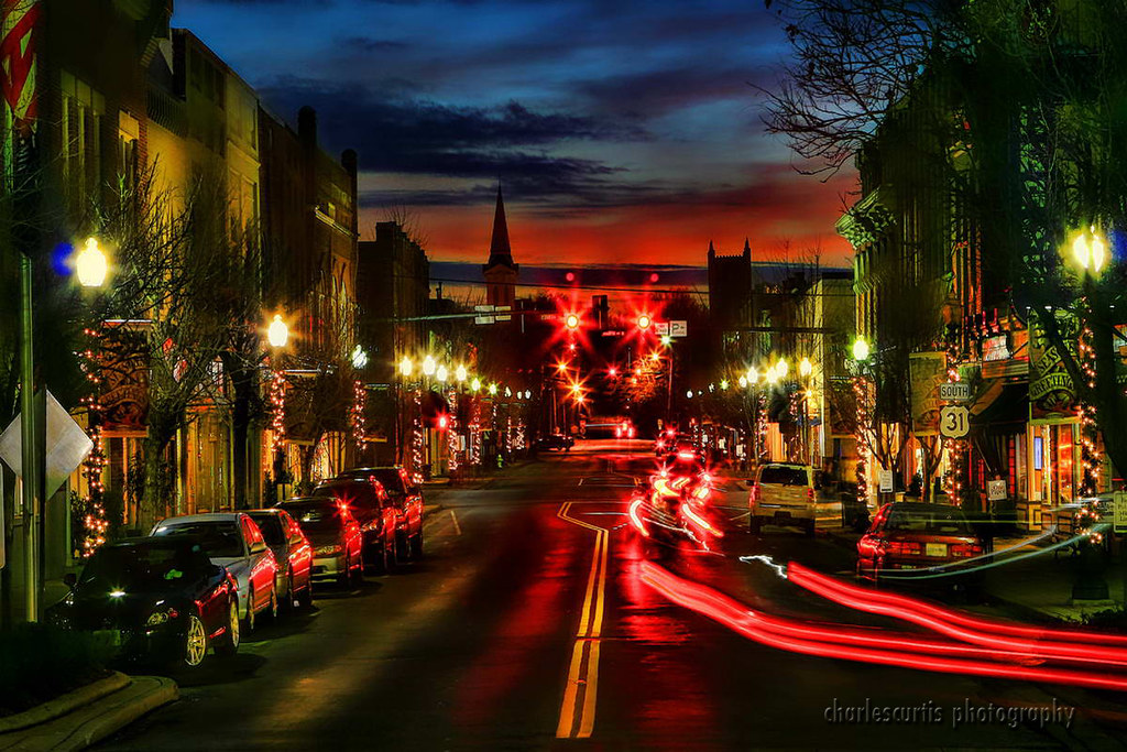 Downtown Franklin Tn >> Franklin, Tennessee - Downtown at Night | Set up my tripod ...