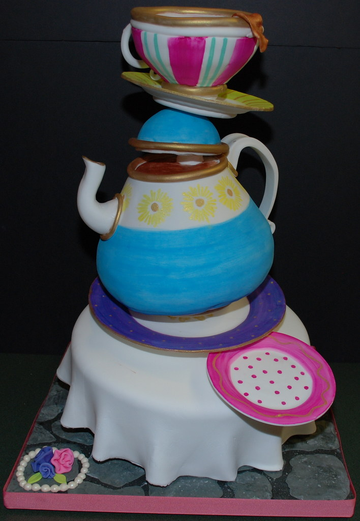 Unbirthday Tea Party Cake I just got done with a three ...