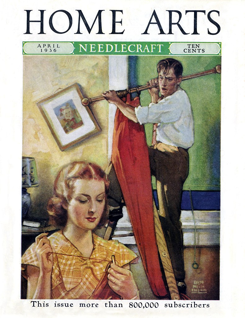 1936 home arts magazine cover of the april 1936 issue