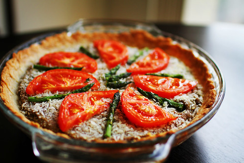 Savory Asparagus & Tomato Quiche Pies | by Simply Stardust