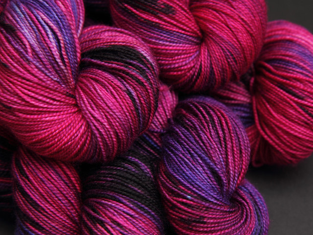 Favourite Sock – hand-dyed superwash merino 4 ply yarn 'God Save The Queen'