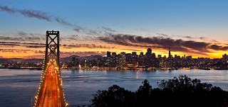 San Francisco from Yerba buena island at sunset #2 | by Blurry World