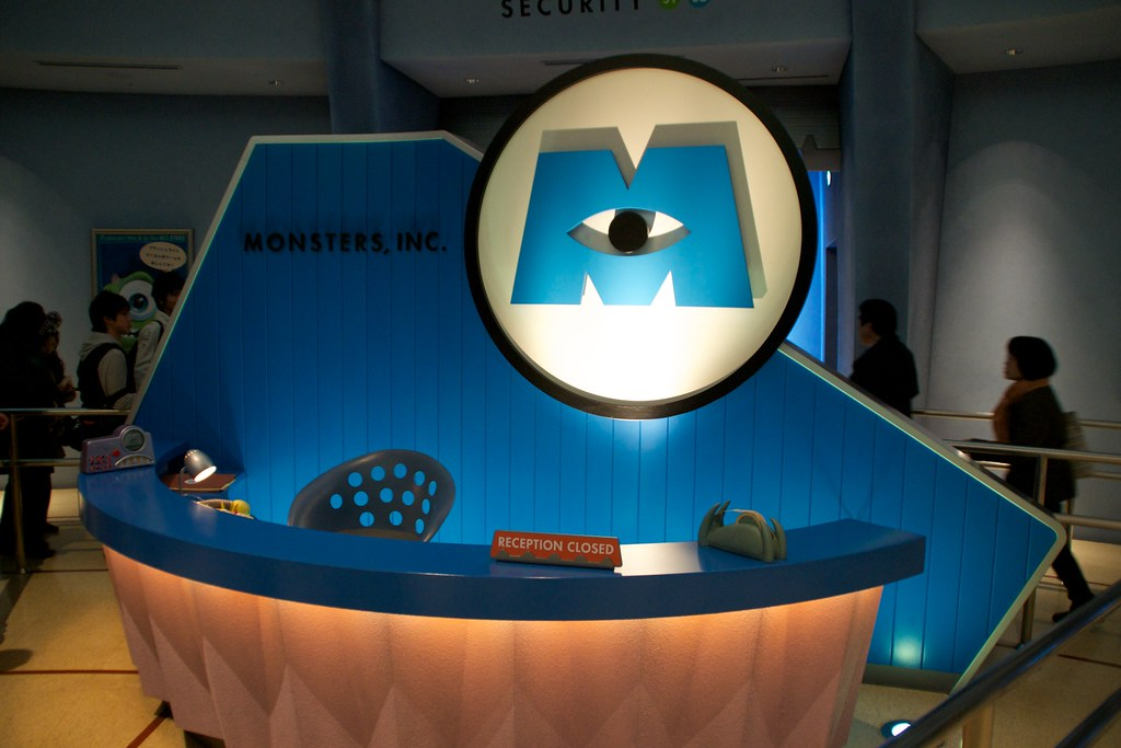 Welcome To Monsters Inc The Reception Desk At Monsters