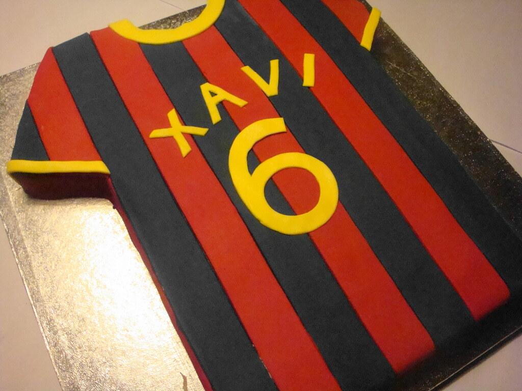 Fc barcelona cake designs images for T shirt cake decoration