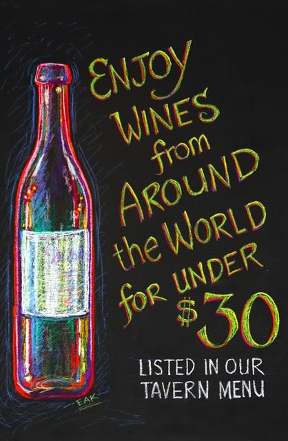 Chalkboard art wine flickr photo sharing for Wine chalkboard art