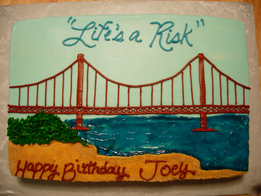 Golden Gate Bridge Cake A Cake Featuring The Golden Gate