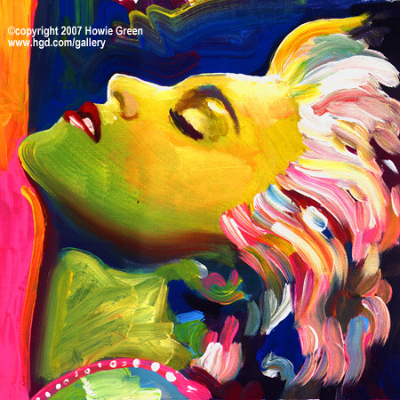 Madonna True Blue Painting