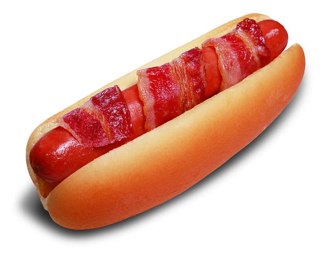 Bacon-Wrapped Hot Dog