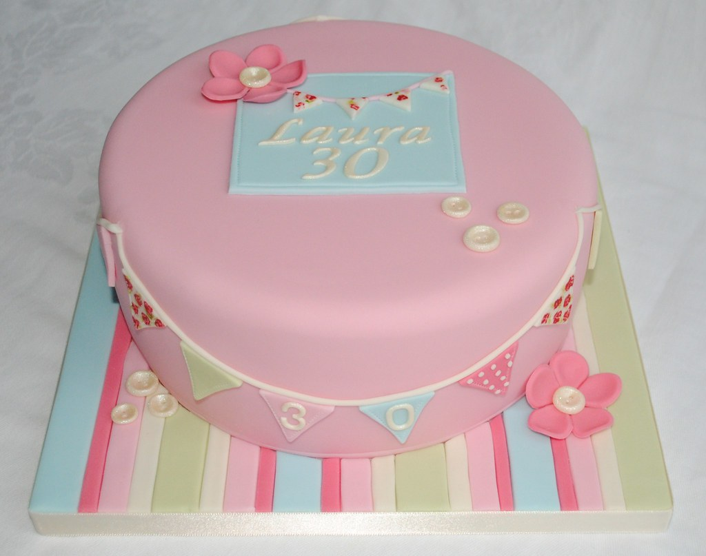 Birthday Cake Images New Style : Cath Kidston Style Birthday Cake A 30th birthday cake ...