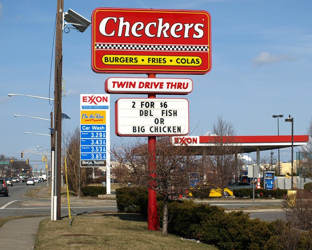 Checkers Sign And Exxon Gas Station Us Route 1 9 Linden New Jersey Flickr Photo Sharing