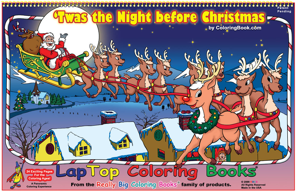 Twas the Night before Christmas - LapTop Coloring Book ...