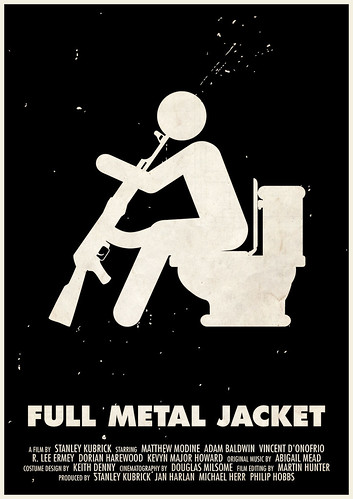 'Full Metal Jacket' pictogram movie poster | by Viktor Hertz