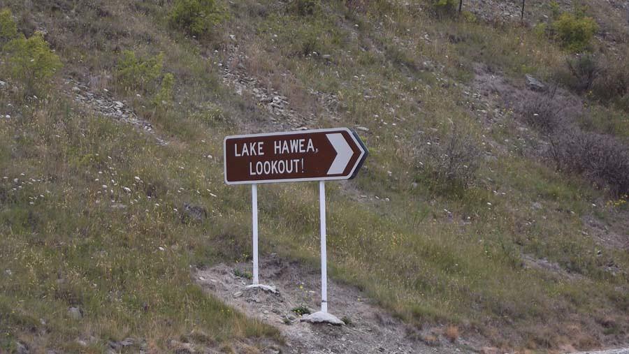 Lake Hawea Sign