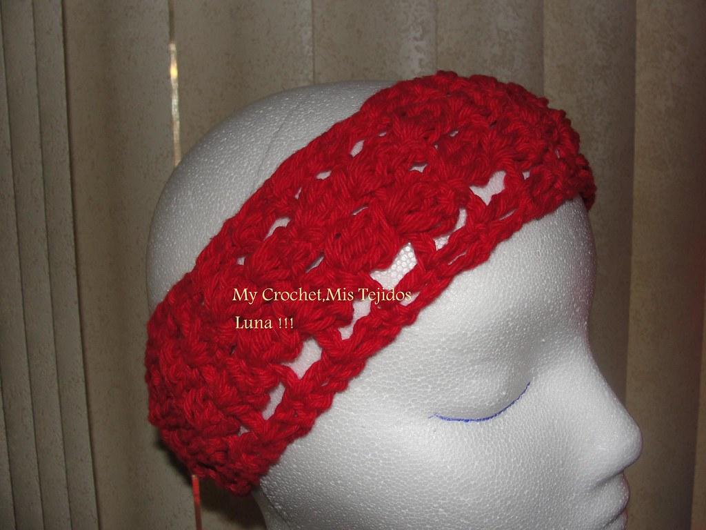 Diademas o vinchas tejidas a crochet luna my crochet mis t - Diademas a crochet ...