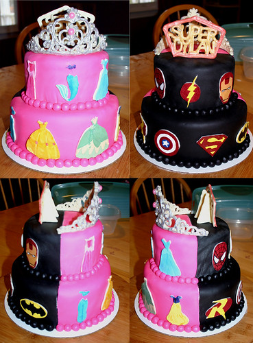 Half Birthday Cake Supergirl