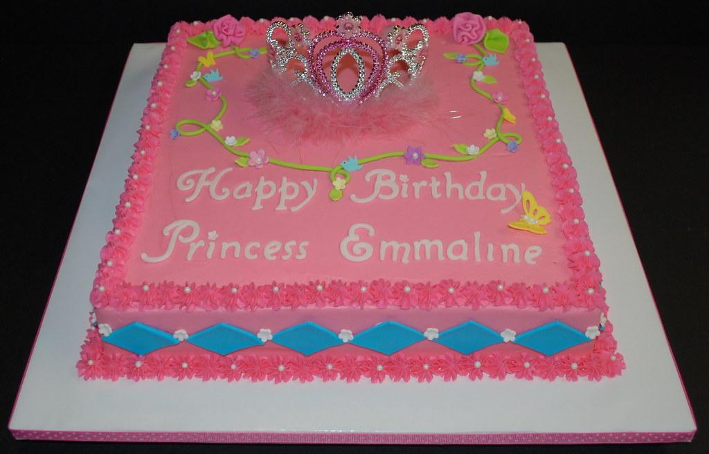 Girl First Birthday Cake Princess
