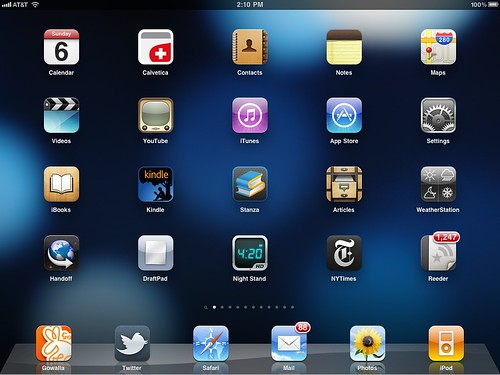 What's on my iPad. (Screen 1.) The home screen. | by Jeffrey