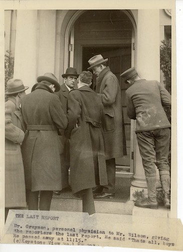 Dr. Grayson Speaking to Reporters, Announcing President Wilson's Death | by Woodrow Wilson Presidential Library Archives