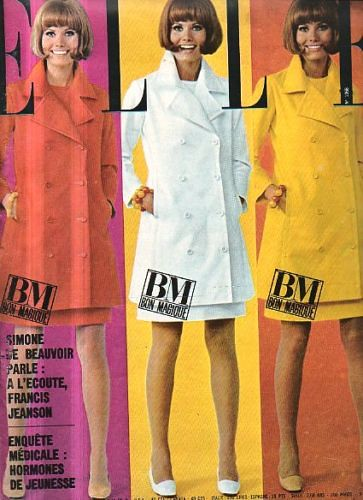 Elle June 1966 Model Maud Adams Is Wearing A Creation Of L Flickr