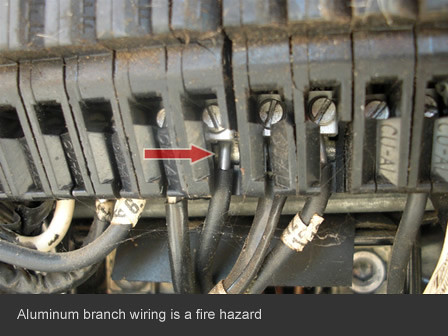 home inspector in san diego finds aluminum wiring fire haz ... aluminum house wiring house wiring lights