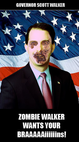 Zombie Scott Walker Governor Walker Governor Scott Walker Wisconsin | by sanchizmodesigns