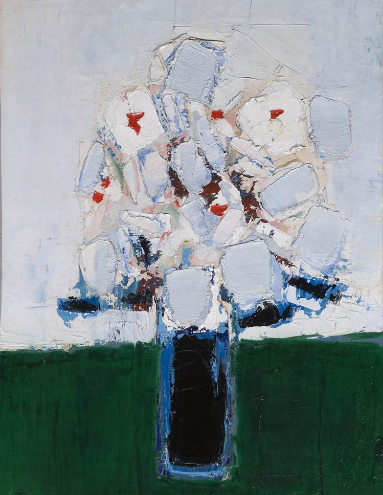 s nicolas de stael fleurs dans un vase bleu 1953 flickr. Black Bedroom Furniture Sets. Home Design Ideas