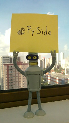 Bender advertises PySide | by Setanta!