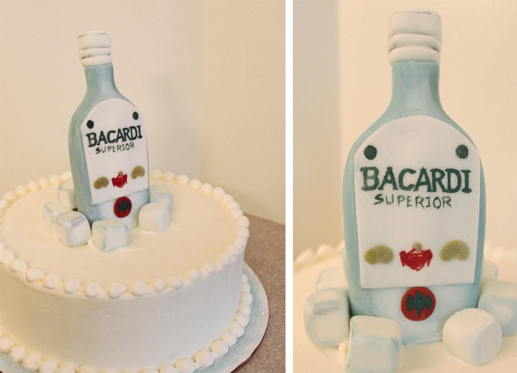 Alcohol Bottle Birthday Cakes