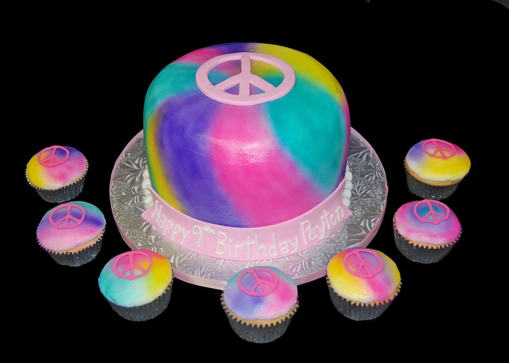 Birthday Cake Peace Sign