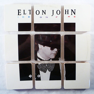 Elton John, Fire and Ice Album Cover Coasters | by McCoyCreations