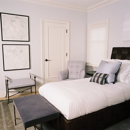 Calm lavender and gray bedroom by Shane Reilly | Usually I ...