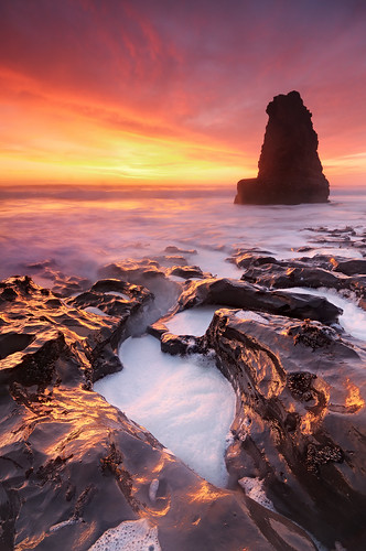 Fire and Foam - Davenport Main Beach, Davenport, California | by Joshua Cripps
