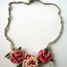 Crochet Pink Hyperbolic Floral Necklace