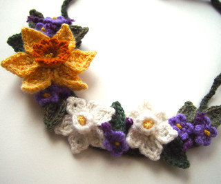 Crochet Spring Flowers Necklace | by meekssandygirl
