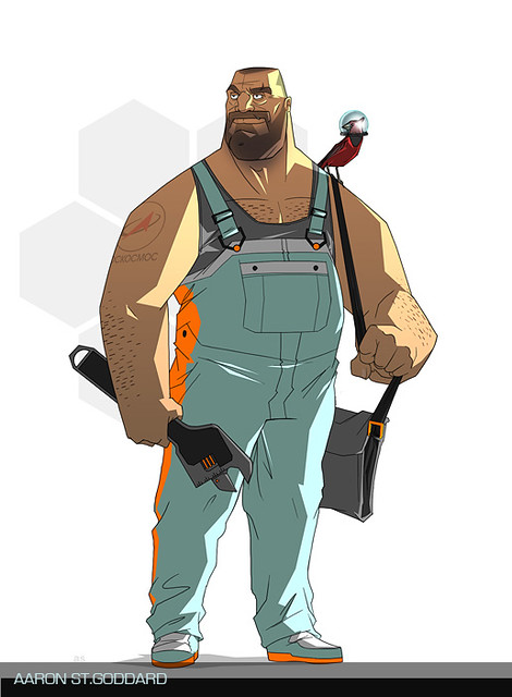 "Mechanic Character Design by Aaron St.Godard | ""Mechani… | Flickr ..."