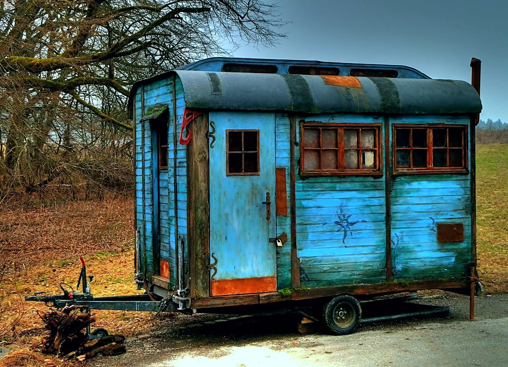 Construction Trailer Bauwagen Old And Rusty But I