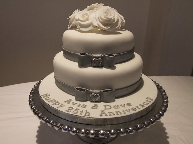 Silver/25th Anniversary Cake Flickr - Photo Sharing!