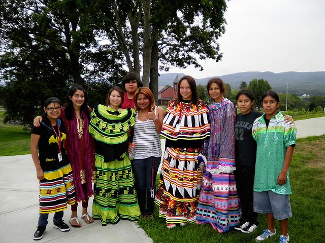 Modern Seminole strip dresses