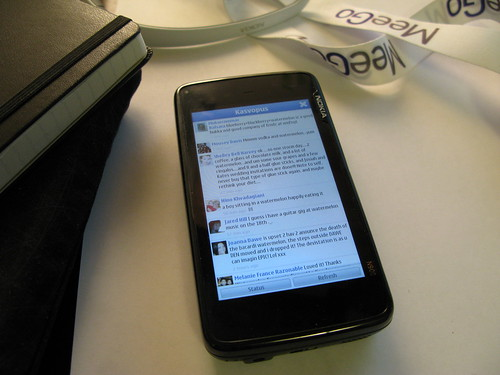 Running first version of my Facebook app on Nokia N900 | by tlaukkanen
