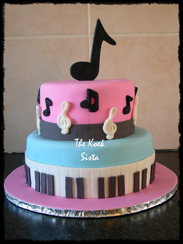 Music Cake For A Little Girl Who Loves Pink Blue And