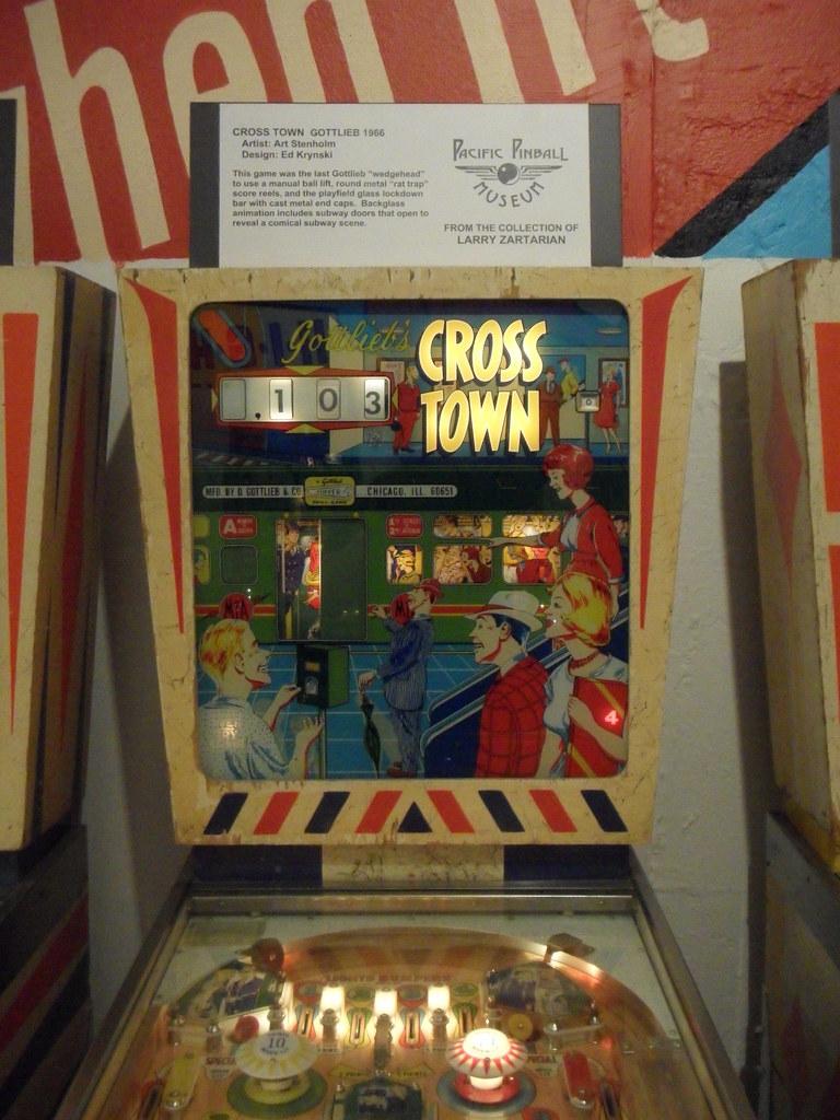 gottlieb s cross town 1966 rapid transit themed pinball flickr