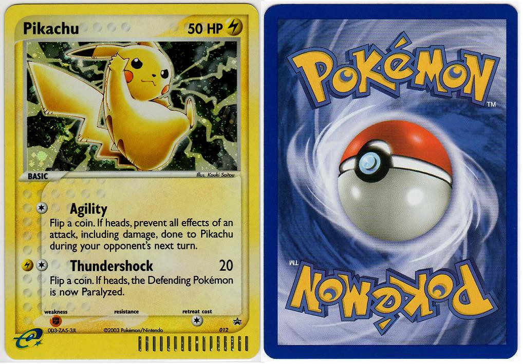 2003/November: EX Collector's Tin | Name: Pikachu Release ... Rare Pokemon Cards Black And White