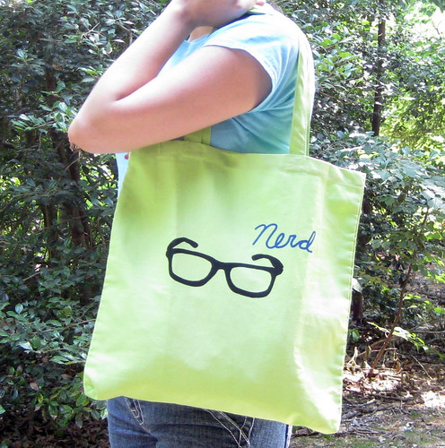 Green Nerd Tote | by naomicayne